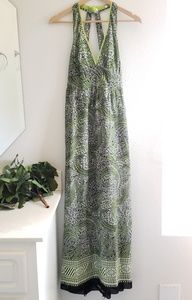 Burning Torch black and white maxi dress